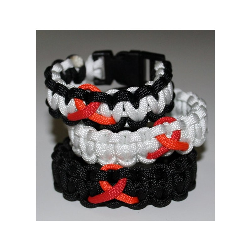 Bracelet Cobra Ruban Rouge Paracord