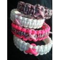 Bracelet Cobra Ruban couleur Cancer Paracord