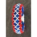 """Bracelet Cobra """"haute Couture"""" Paracord bleu, blanc et rouge"""