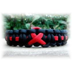 Bracelet Cobra Ruban Rouge Paracord