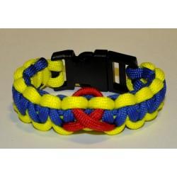 "Bracelet Cobra Ruban Rouge Paracord ""ASM"""