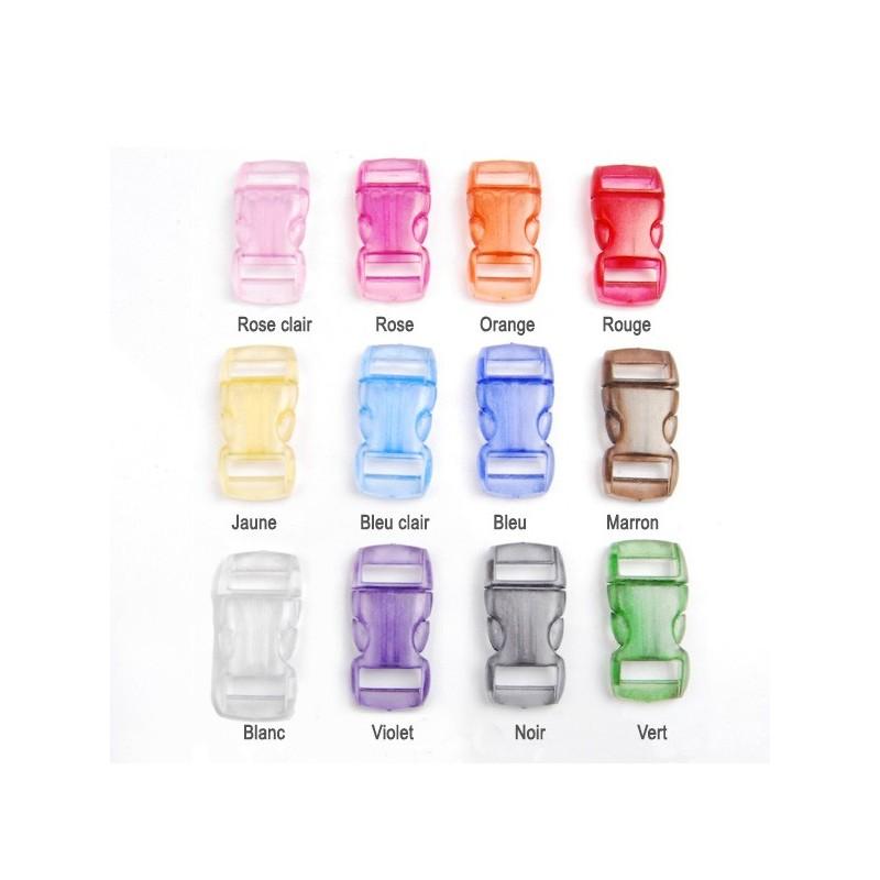 Panel couleur des petites boucles rapide plastique transparente