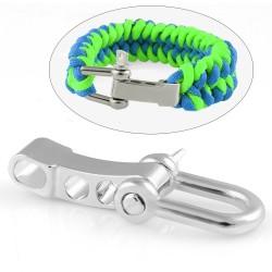 exemple bracelet paracord avec Manille inox droite 3 positions réglable