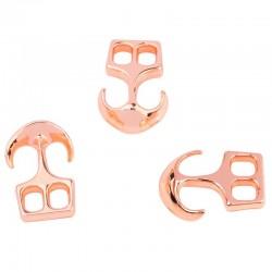 Fermoir ancre  métal chrome rose
