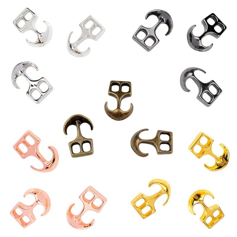 Fermoirs ancres métal chromés 5 couleurs (Chrome - Chrome noir - Vieux bronze - Chrome Rose - Chrome Doré)