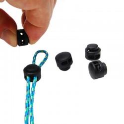 Clip de serrage cordon auto-bloquant petit (collier, bracelet, tour de cou Paracord Type I, Type II)