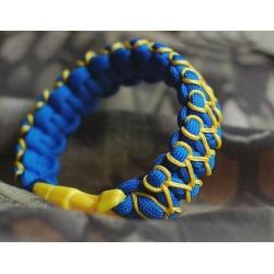 Bracelet Cobra Zipper Paracord bleu et jaune