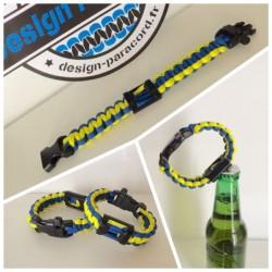"""Bracelet """"l'Indispensable"""" aux couleurs de l'ASM"""