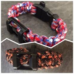 """Bracelet """"l'Indispensable"""" couleurs France ou Harley-Davidson"""