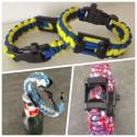 """Bracelet """"L'indispensable"""" du Supporter (Sifflet+Décapsuleur+Paracord)"""