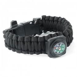 Bracelet Survie allume feu/sifflet/boussole