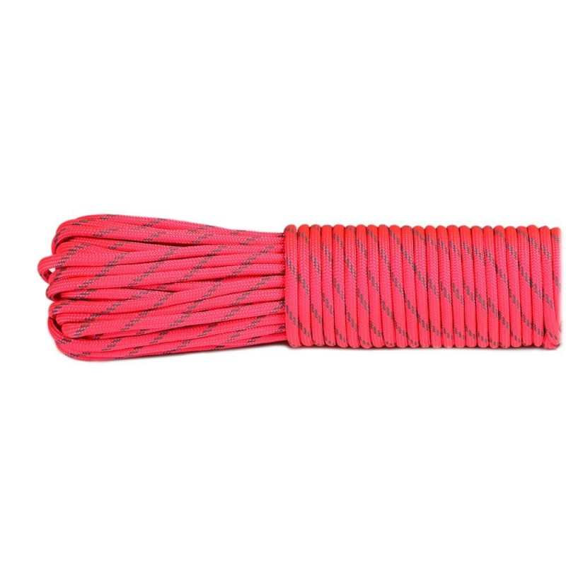 sofit pink  - Reflective Paracord 550 type III (rose tendre)