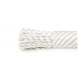 white  - Reflective Paracord 550 type III (blanc)
