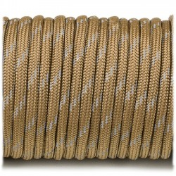 coyote brown  - Reflective Paracord 550 type III (marron coyote)