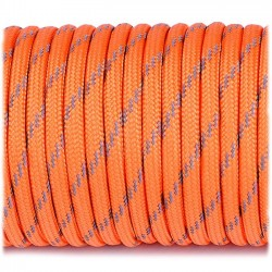 orange yellow  - Reflective Paracord 550 type III (orange jaune)